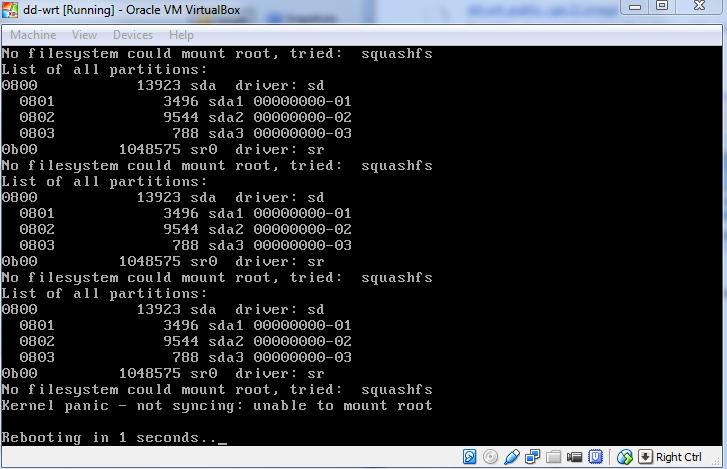 3273 (DD-WRT Reboots on x86 version) – DD-WRT