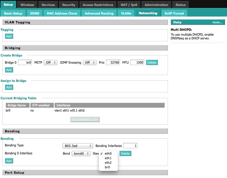 3405 (Enhancement Request: Bonding VLANS with Netgear R7000